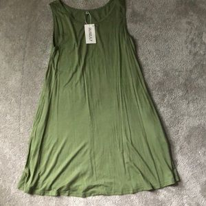 Flowy, Soft, Green Dress- Women's Medium